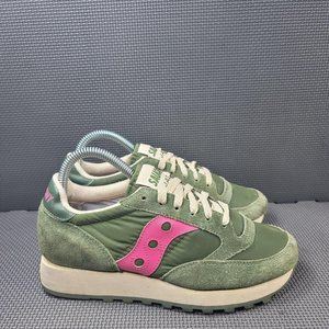Womens Sz 6.5 Green Saucony Jazz Sneakers